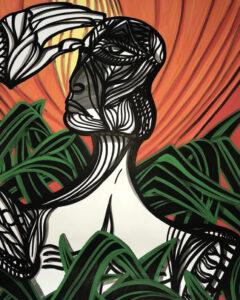 Art work by Nigerian artist Dipo Doherty